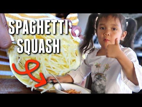 EASIEST Kid Approved Spaghetti Squash Spaghetti 🍝- itsjudyslife thumbnail