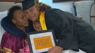 Daughter graduates by mother's deathbed after pausing school to help with 3-year cancer battle