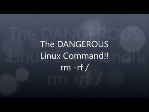 The DANGEROUS Linux Command!! (rm -rf / --no-preserve-root)