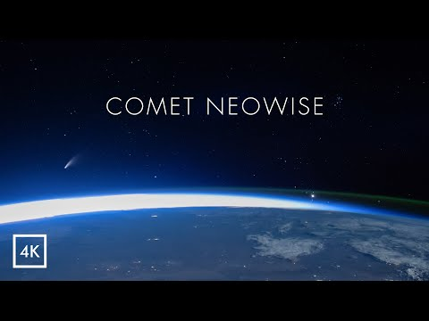 Comet NEOWISE from ISS