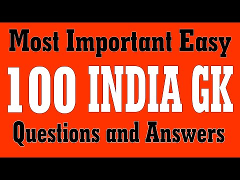 100 Most Important INDIA GK   Easy GK   General Knowledge Questions and Answers for Kids, Student