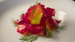 Beetroot Cured Salmon – Bruno Albouze