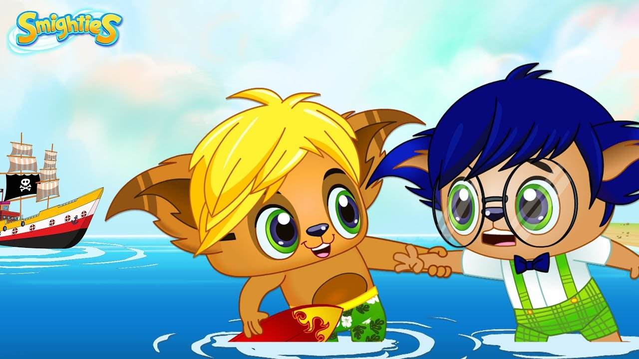smighties pirate ship follow dude water swim fun cartoons for