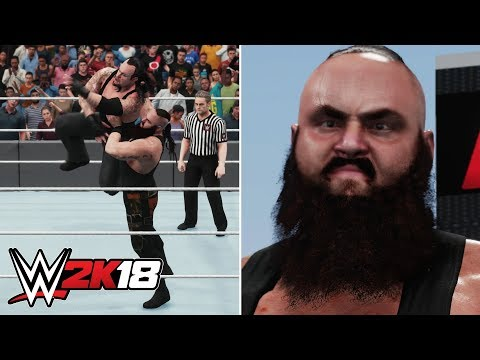 WWE 2K18 Braun Strowman Gameplay - Entrance, Signatures, Finishers, Winning Animation & More!
