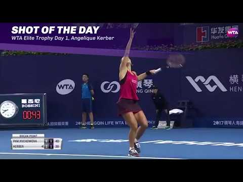 2017 WTA Elite Trophy Day One   Shot of the Day   Angelique Kerber