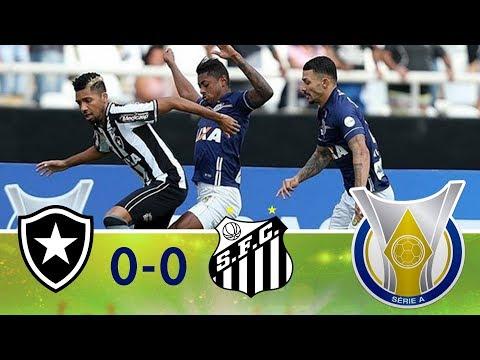 Melhores momentos - Botafogo 0 x 0 Santos - Campeonato Brasileiro (04/08/2018)