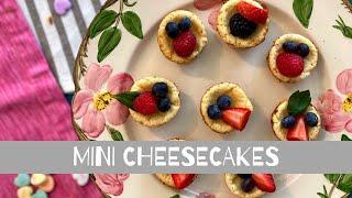 Mini Cheesecakes/ Mini Pay De Queso (How To)