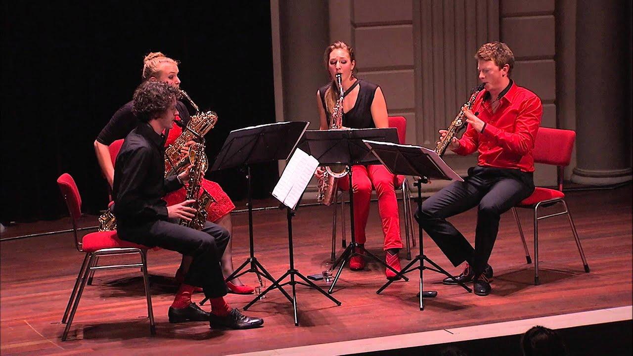 Shostakovich 8th string quartet - Berlage Saxophone Quartet live Concertgebouw Amsterdam