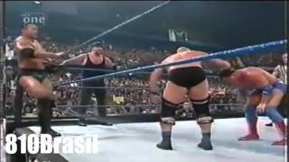 WWE SmackDown 2001 - Stone Cold,The Undertaker And The Rock Vs Kane,Kurt Angle And Rikishi