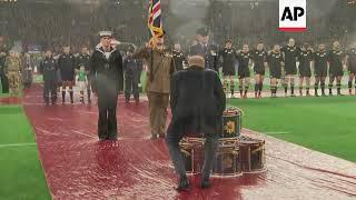 Prince Harry marks Armistice centenary ahead of England v. NZ rugby match