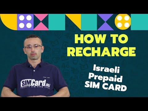 How To Recharge Israeli Prepaid SIM Card Online