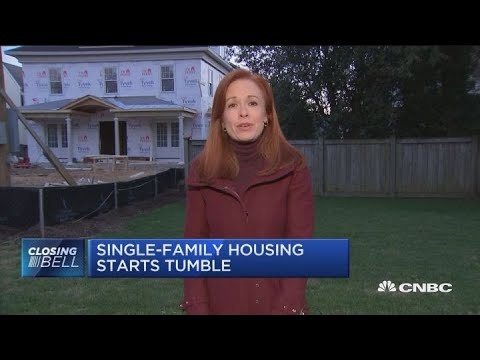 Single family housing starts fall to lowest rate in over a year
