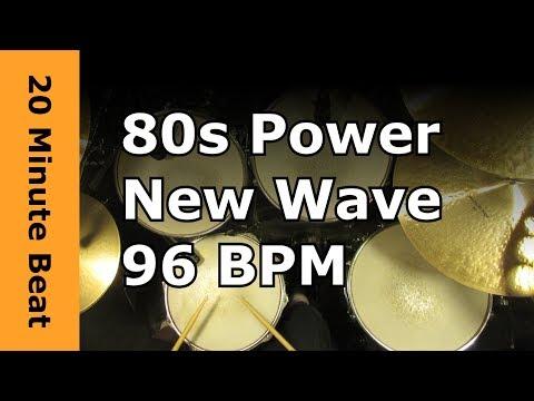 20 Minute Drum Loop - 80s Power New Wave 96 BPM
