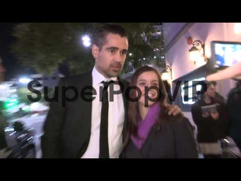 Colin Farrell greets fans at the Dead Man Down Premiere i...