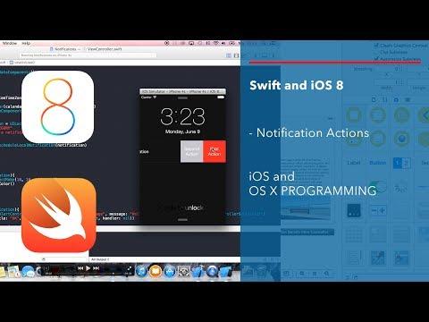 Apple Swift iOS 8 Tutorial: Simple Local Notification Actions iOS App