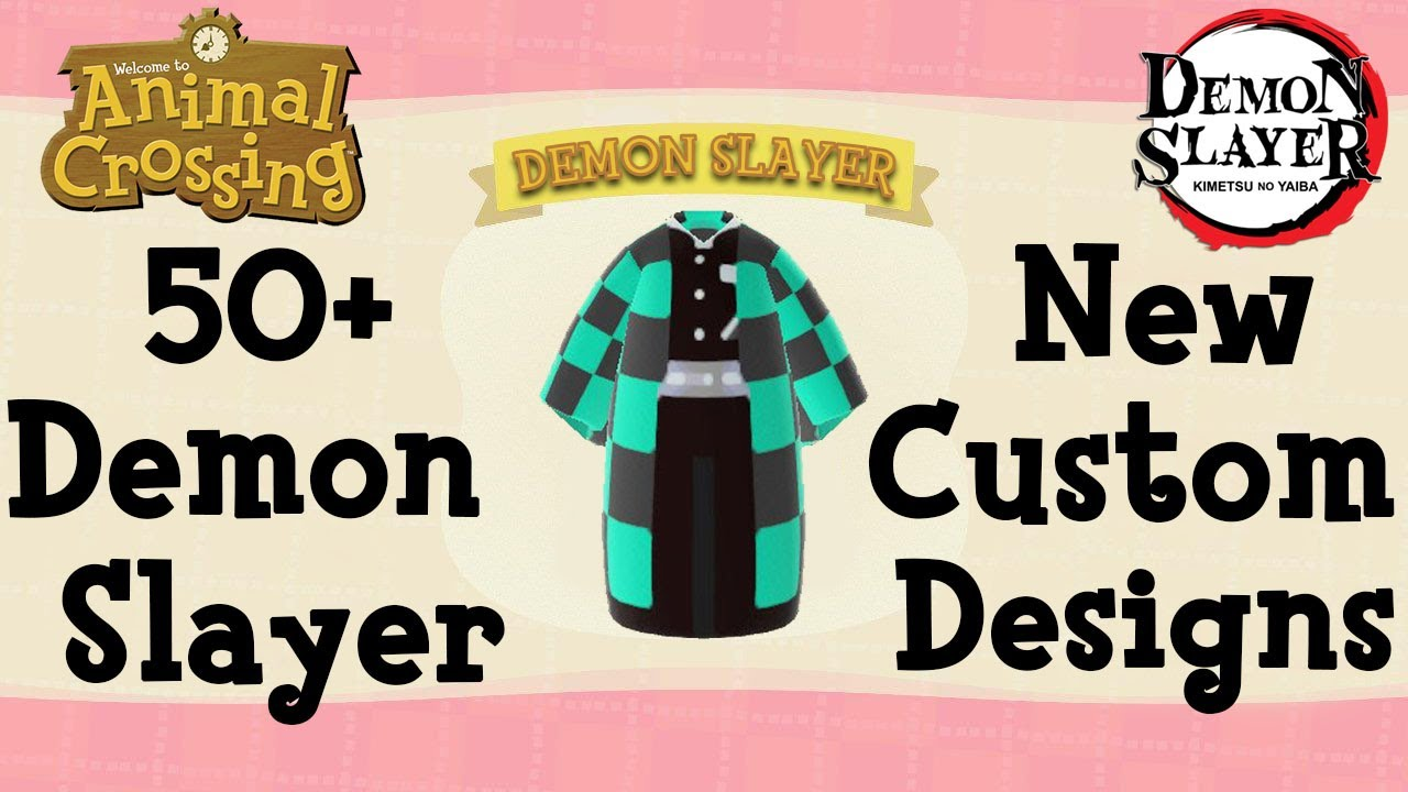 50 Demon Slayer Animal Crossing New Horizons New Custom Designs