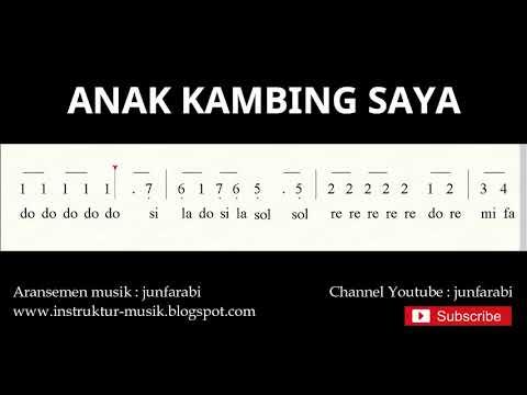 Not Angka Anak Kambing Saya  - Lagu Daerah Tradisional Nusantara Indonesia - Doremi
