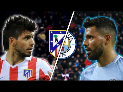Aguero in Atletico Madrid Vs Aguero in Manchester City | Skills & Goals | Which is better?