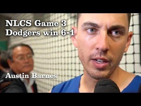 Austin Barnes on Winning NLCS Game 3 | Los Angeles Times