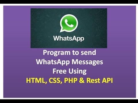 Whatsapp Api How To Send Free Whatsapp Messages Using Php Youtube