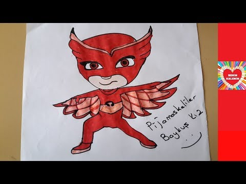 Pj Masks Pijamaskeliler Baykus Kiz Cizimi Colouring And Drawing For Kids Youtube