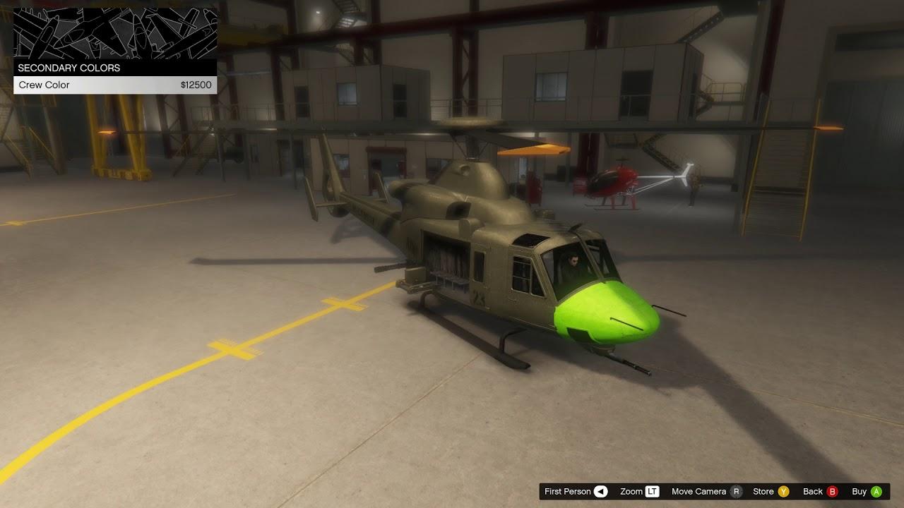 GTA Online Valkyrie Color Customization
