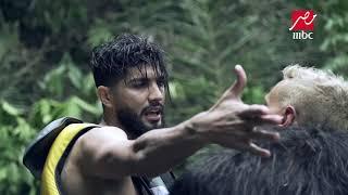 فيديو.. لحظة انفعال فرجاني ساسي في رامز في الشلال