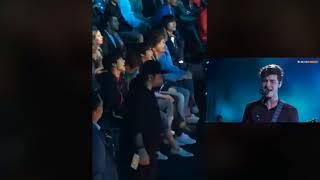BTS reaction to Shawn Mendes 'In My Blood' @ BBMAs 2018