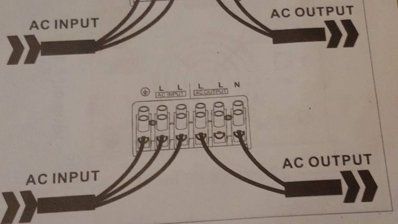 wiring up the aims 6000 split phase pure sine wave inverter to your whole house [ 1280 x 720 Pixel ]