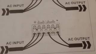 Wiring up the aims 6000 split phase pure sine wave inverter to your whole house