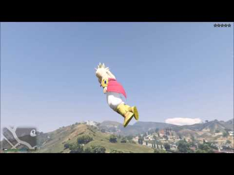 Grand Theft Auto 5 Broly legendary Super Saiyan rampage