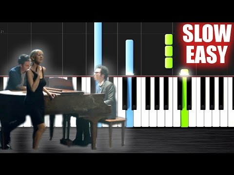 A Great Big World, Christina Aguilera - Say Something - SLOW EASY Piano Tutorial by PlutaX