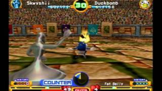 Monster Rancher 4 Battle: Skwyshii Vs. Duckbomb!
