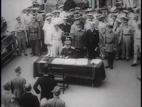 JAPANESE SIGN FINAL SURRENDER on USS Missouri [subtitled/HQ]