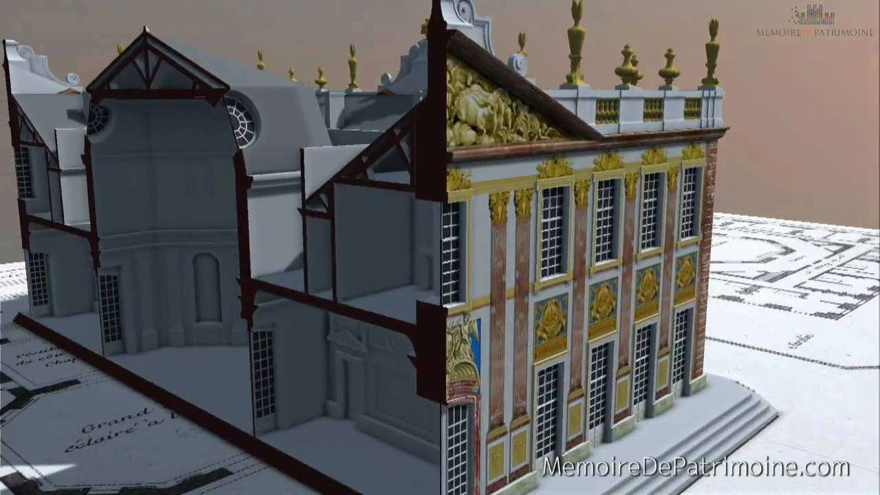 visite virtuelle ch teau de marly versailles youtube. Black Bedroom Furniture Sets. Home Design Ideas