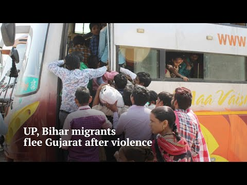 UP, Bihar migrants flee Gujarat after rape of 14-month girl triggers violence