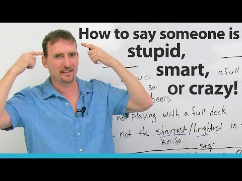 How to call someone STUPID, SMART, or CRAZY in English