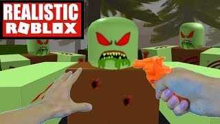 Realistic Roblox - ROBLOX ZOMBIE APOCALYPSE | ROBLOX ZOMBIE RUSH