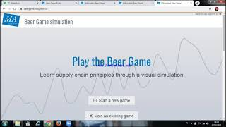 BEER GAME SIMULATION WEB_SISPER VIDIO TUTORIAL #PART01 screenshot 2