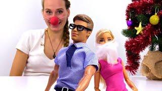 Барби - дед Мороз! Мультики для девочек с куклами