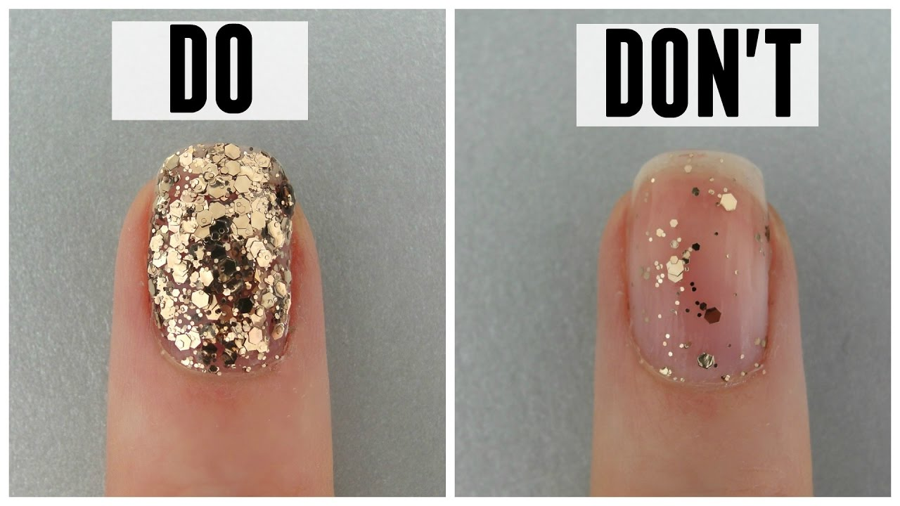 HOW TO APPLY GLITTER NAIL POLISH - DO\'s and DONT\'s - YouTube