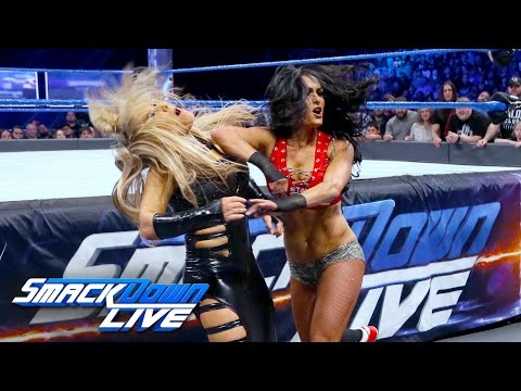 Nikki Bella vs. Natalya - Falls Count Anywhere Match: SmackDown LIVE, Feb. 21, 2017
