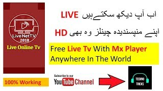 Free live tv with mx player anywhere in the world (Hindi