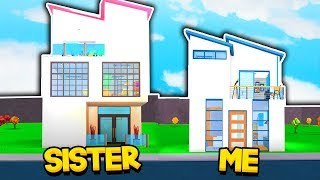 SISTER vs BROTHER BLOXBURG 5X5 HOUSE BUILD OFF (Roblox)