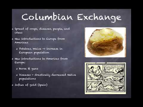 APUSH Review: Video #2: European Exploration And The Columbian Exchange Key Concept 1.2, I, A-C