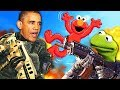 FAMOUS PEOPLE PLAY CALL OF DUTY! (Obama, Kermit the Frog, Elmo, Mickey Mouse, Towelie)