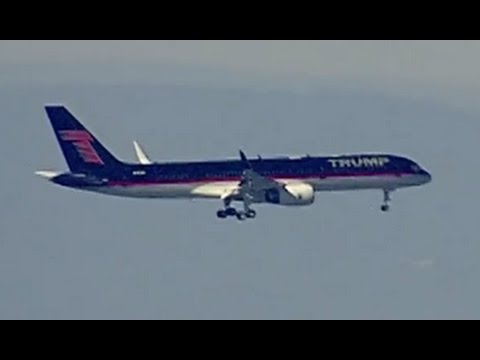 Trump's Plane Lands in Washington D.C.