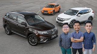 DRIVEN 2019: Proton X70 SUV vs Honda CR-V vs Subaru XV - Malaysian review