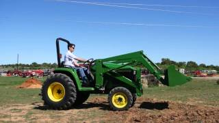 Demo Video of John Deere 4300 Tractor with Loader, 4x4