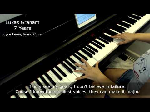 Lukas Graham - 7 Years - Piano Cover and Sheets - Lyrics On-screen